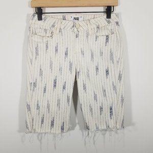 PAIGE Striped Bermuda Shorts Size 29